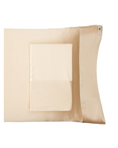 "Kumi Kookoon Set of 2 Silk Pillowcases, Ivory, 20"" x 32"""