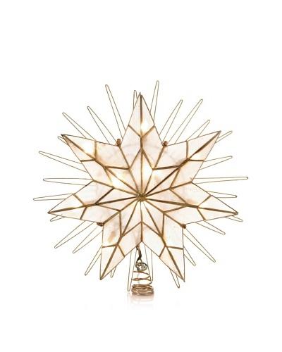 Kurt Adler 14 7-Point Natural Capiz Star Lighted Treetop