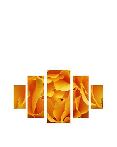 Kurt Shaffer Hypnotic Yellow Rose 5-Panel Canvas Set
