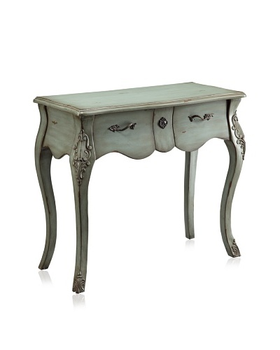 Coast to Coast Console Table, Cool Green Wash