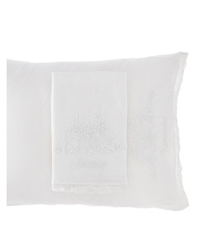 Pom Pom at Home Pair of Amour/Bonheur Pillowcases