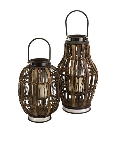 Set of 2 Saeram Hurricane Lanterns