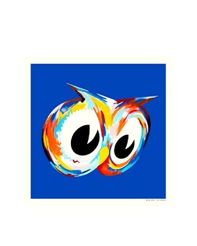 La La Land Blue Owl Fluorescent Lithographed Poster