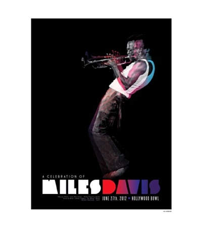 "La La Land ""Miles Davis at Hollywood Bowl"" Lithographed Concert Poster"