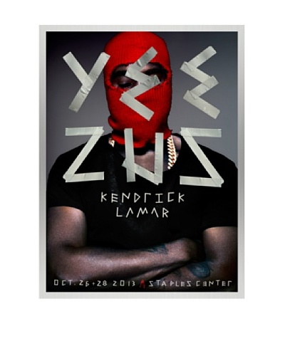 La La Land Yeezus at Staples Center Lithographed Concert Poster with Silkscreened Varnish