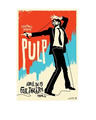La La Land Pulp at Fox Theatre 2012 Lithographed Concert Poster