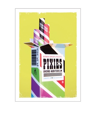 La La Land Pixies at Ovens Auditorium 2010 Fluorescent Lithographed Concert Poster