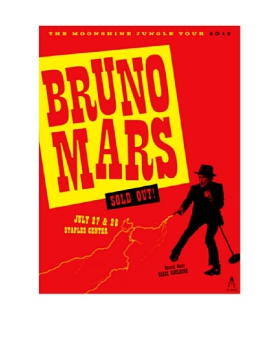 "La La Land ""Bruno Mars at Staples Center 2013"" Lithographed Concert Poster"