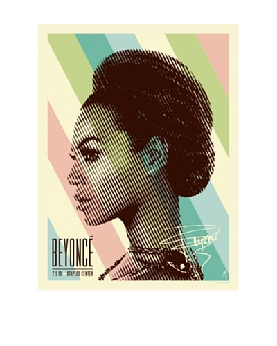 La La Land Beyoncé at Staples Center Lithographed Concert Poster