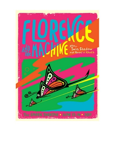 La La Land Florence And The Machine at The Greek Theatre 2011 Fluorescent Lithographed Concert Pos...