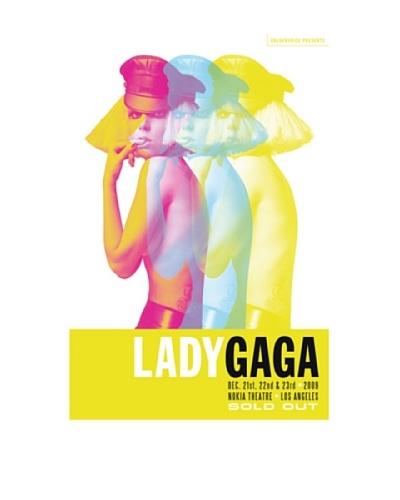 La La Land Lady Gaga Triplet Fluorescent Lithographed Concert Poster