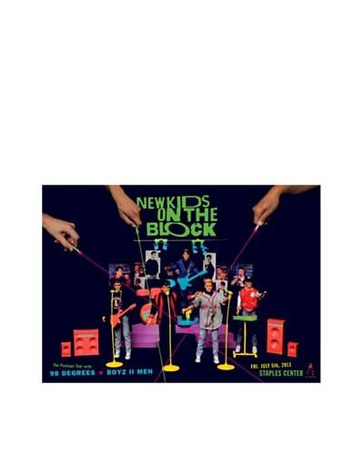 La La Land New Kids on the Block at Staples Center Fluorescent Lithographed Concert Poster