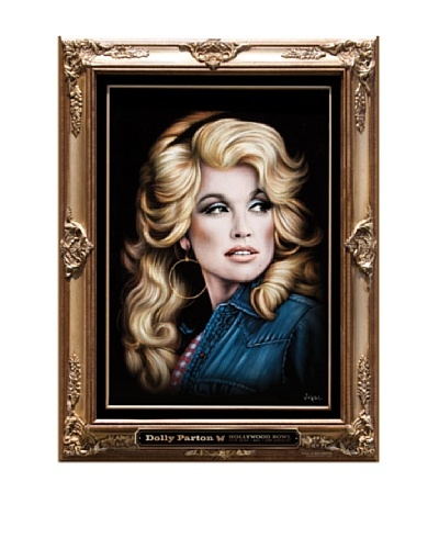 La La Land Dolly Parton 2011 Hollywood Bowl Lithographed Concert Poster with Flocking