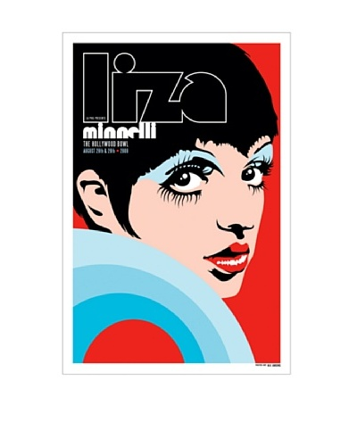 La La Land Liza Minnelli at 2009 Hollywood Bowl Lithographed Concert Poster