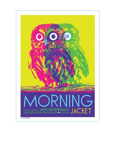 La La Land My Morning Jacket at The Greek Theatre 2010 Fluorescent Lithographed Concert Poster