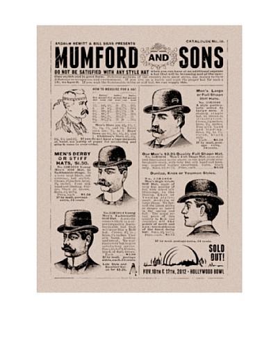 "La La Land ""Mumford And Sons at 2012 Hollywood Bowl"" Silkscreened Tour Poster"