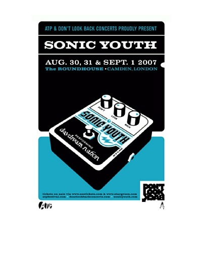 La La Land Sonic Youth at The Roundhouse in London 2007 Lithographed Concert Poster