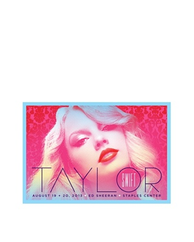 La La Land Taylor Swift at Staples Center 2013 Fluorescent Lithographed Concert Poster