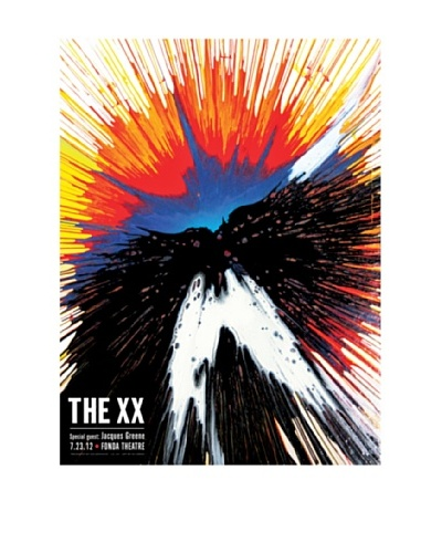 La La Land The XX at Fonda Theatre 2012 Lithographed Concert Poster with Silkscreened Varnish