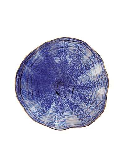 La Meridian Mouth-Blown Glass Wall Plate, Cobalt, Large