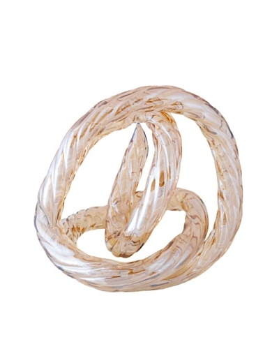 La Meridian Hand Blown Glass Infinity Knot, Champagne