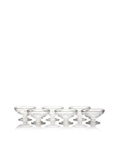 La Rochère Set of 6 Bee Décor Ice Cream Coupes, Clear
