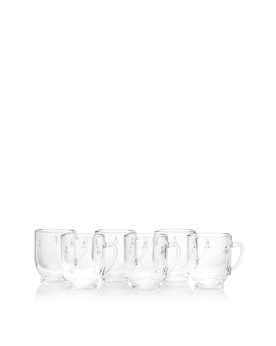 La Rochère Set of 6 Bee Décor 10.5-Oz. Mugs