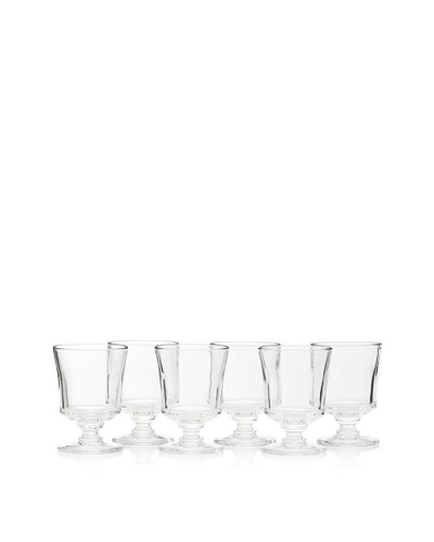 La Rochère Set of 6 Jacques Coeur Historic Goblet Glasses,7.5 oz.As You See