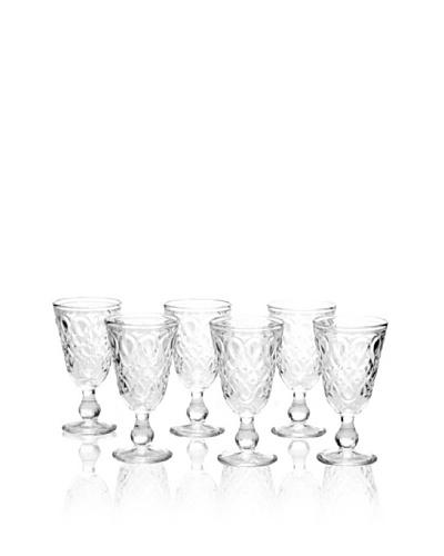 La Rochère Set of 6 Lyonnais Clear, Wine Glasses