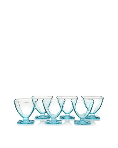 La Rochère Set of 6 Carat Ice Cream Coupes, Blue, 6.5-Oz.