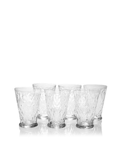 La Rochère Set of 6 Lyonnais Décor 14-Oz. Tall Drink Glasses