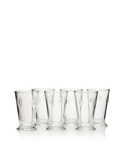 La Rochère Set of 6 Fleur De Lys Décor 10-Oz. Tall Goblets
