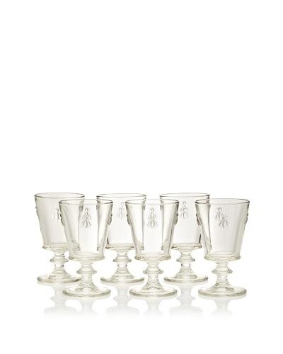 La Rochère Set of 6 Bee Décor 12.5-Oz. Water Goblets