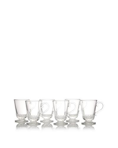 La Rochère Set of 6 Louison Clear Classic Mugs