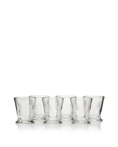 La Rochère Set of 6 Fleur De Lys Décor 8.5-Oz. Goblets