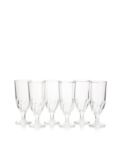 La Rochère Set of 6 Torsade Décor 8.5-Oz. Anisette Glasses