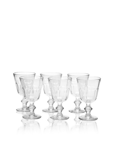 La Rochère Set of 6 Perigord Clear Water Goblets