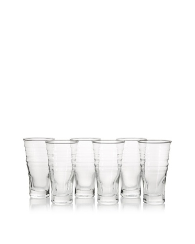La Rochère Set of 6 Frisson Décor 16.5-Oz. Smoothie Glasses