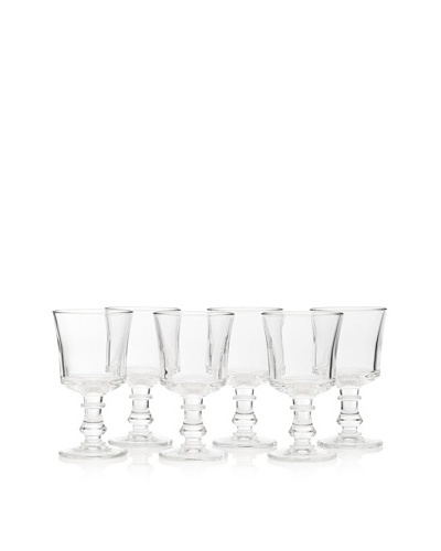 La Rochère Set of 6 Jacques Coeur Décor 8-Oz. Wine Glasses