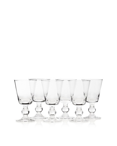 La Rochère Set of 6 Bocage Décor 8.5-Oz. Water Glasses