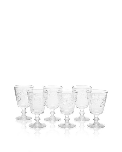 La Rochère Set of 6 Versailles Clear Wine Glasses