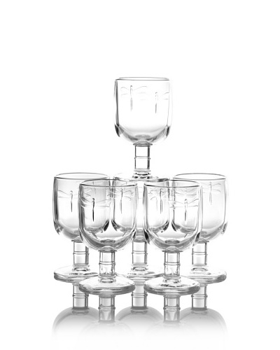 La Rochère Set of 6 Dragonfly Décor 9.5-Oz. Water Goblets