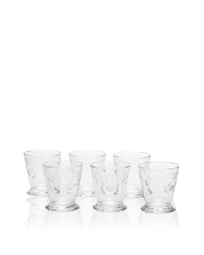 La Rochère Set of 6 Versailles Clear Goblets