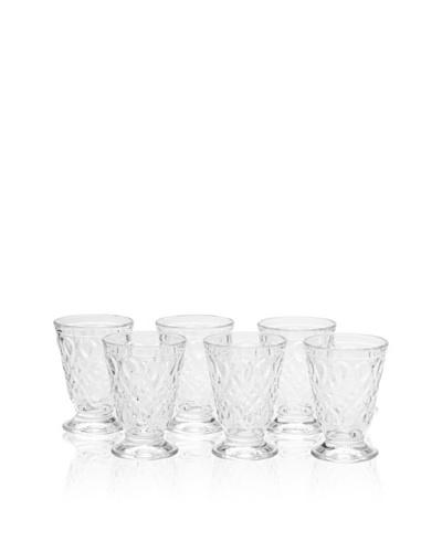 La Rochère Set of 6 Lyonnais Clear Goblets