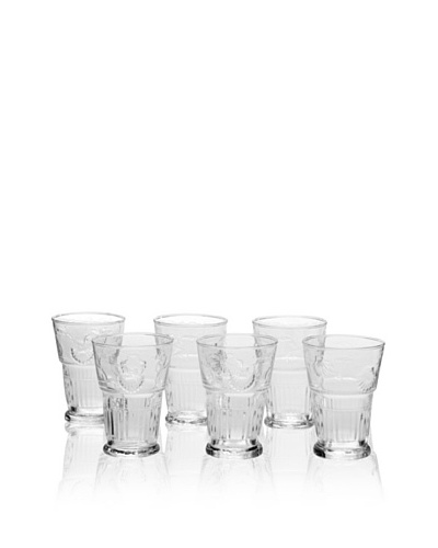 La Rochère Set of 6 Versailles Décor 14-Oz. Iced Tea Glasses