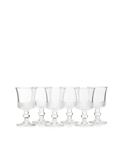 La Rochère Set of 6 Richelieu Décor 8.5-Oz. Wine Glasses