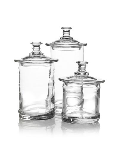 La Rochère 3 Piece Apothecary/Storage Clear Jar Set