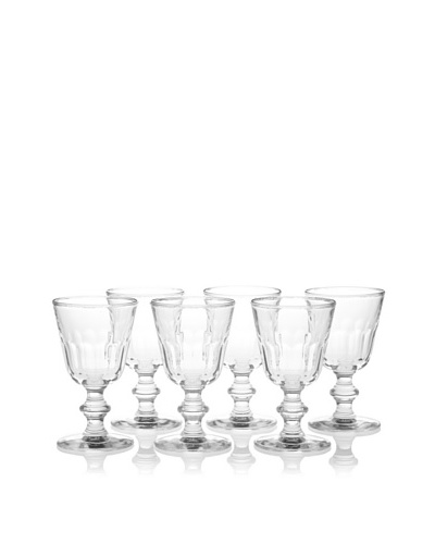 La Rochère Set of 6 Perigord Décor Footed Water Goblets