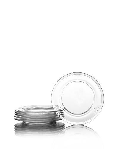 La Rochère Set of 6 Dragonfly Décor Dessert Plates, Clear, 7.5