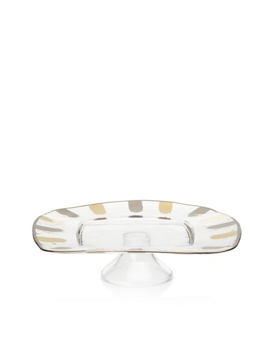 La Villa Collections Glory Footed Square Cake Plate